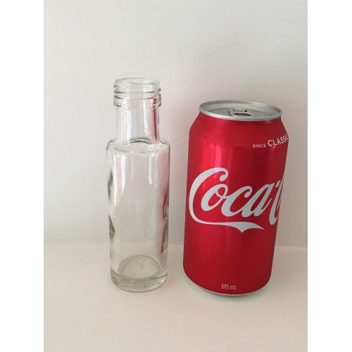 24 X 100ml Glass Table Sauce Olive Oil Bottle Dorica - Round (Bulk Price)