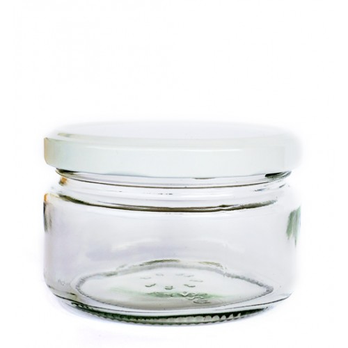 228ml Glass Jar - Round (Wide)
