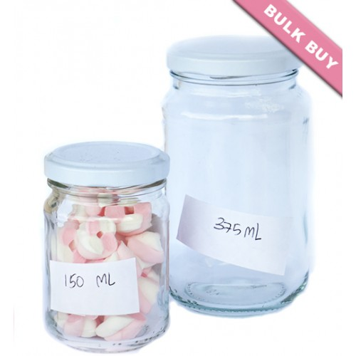 24 x 375ml Glass Jar - Round