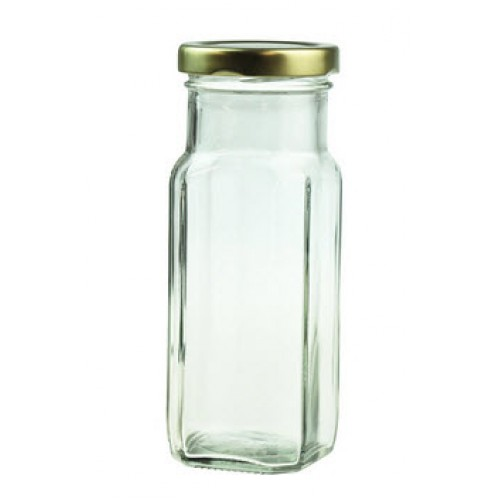 40 x 250ml Glass Jar - Square Tall